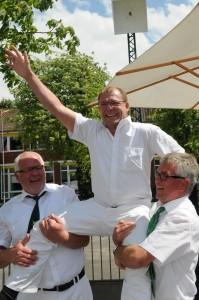 Rainer Kieskemper nach Königsschuss